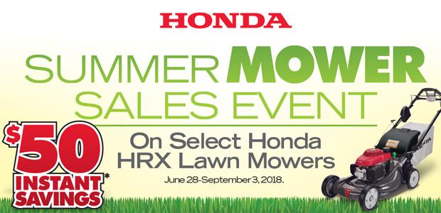 $50 off Honda HRX Mowers