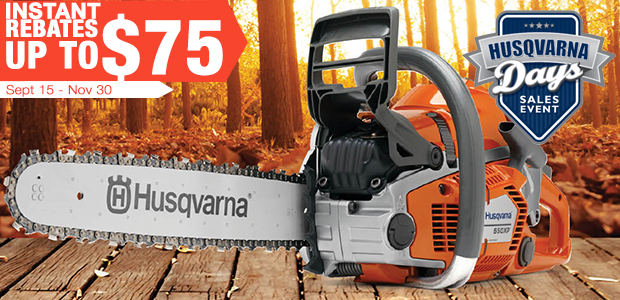 Fall Chainsaw Rebates