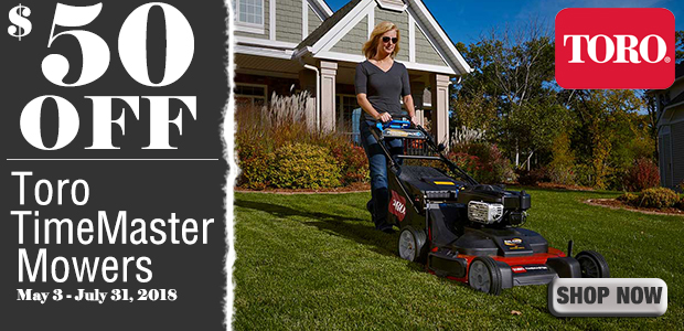 $50 off TimeMaster Mowers