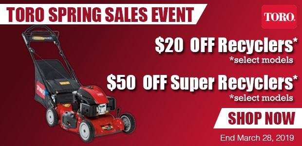 Toro Mower Sales Event