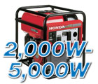 2000 to 5000 Watt Generators