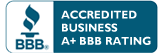 A plus Accredited Business with the Better Business Bureau
