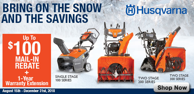 Husqvarna Rebates and Free Extended Warranty