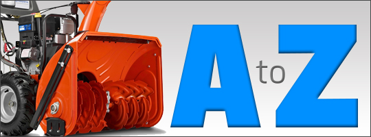 The A-Z of Snow Blower Terms