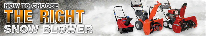 How to Choose the Right Snow Blower