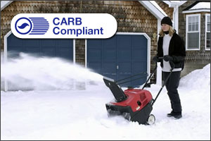 Honda is committed to the environment and all snow blower models are CARB Compliant