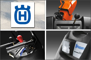 Husqvarna snow blowers have many ergonomic features