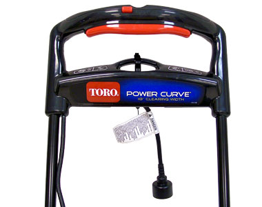 Toro 1800 Power Curve Electric Snow Blower Controls