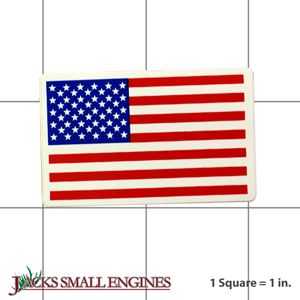 05305100 DECAL  AMERICAN FLAG