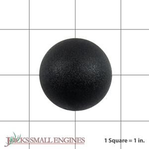 07533500 Black Ball Knob
