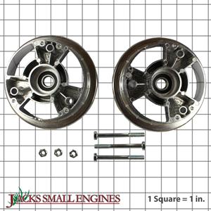 "1144 5"" Aluminum Tri-Star Wheels w/ 5/8"" ID Precision Ball Bearings"