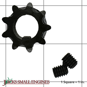 """2123K 9 Tooth """"B"""" Type Sprocket for #35 Chain"""