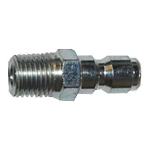 """1195 1/4"""" MPT Zinc Coated Steel Plug"""