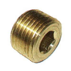 """2077 1/4"""" Brass Allen Head Plug"""