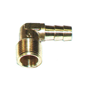 "4871 1/4"" Barb X 3/8"" MPT Brass Elbow Barb"