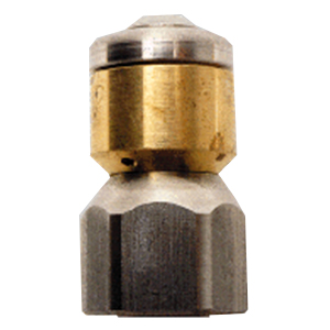 """2372 5.5-1/8"""" Inlet Stainless Steel Rotating Sewer Nozzle"""