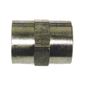 """1/4"""" FPT Steel Hex Coupler 2581"""