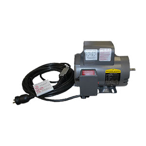 """3120 Baldor 5/8"""" 1.5 HP C-Face Motor Made Ready With Switch and Ground Fault"""