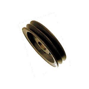 """3965 4.95"""" OD Double Groove Pulley Sheaf"""