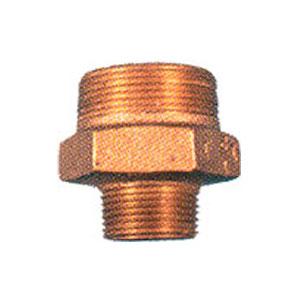 "1-1/4"" x 1"" MPT Bronze Reducing Nipple 3991"