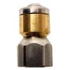 """5.5-1/8"""" Inlet Stainless Steel Rotating Sewer Nozzle 2372"""