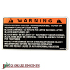 Blade Warning Label 2000572