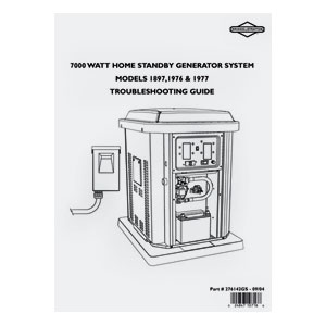 Briggs and Stratton 276142GS GENERATOR SYSTEM REPAIR MANUAL