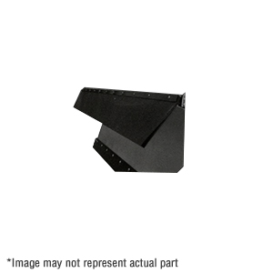 "1309052 51.75"" X 3/8"" Belted Rubber Snow Deflector for V-Plow"