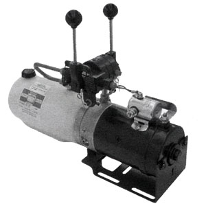 PU5007 Electric Plow Power Unit with Manual Valves