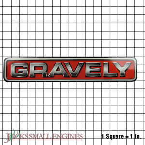 """05240000 Gravely Logo/Decal 15"""""""