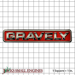 07800338 DECAL  13.5  GRAVELY