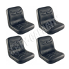 Black Vinyl Bucket Seat, Narrow (Package of 4) S830812Q4