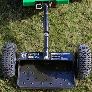 Jungle Jims JWBlack 2-Wheel Mower Sulky - Black - Jacks