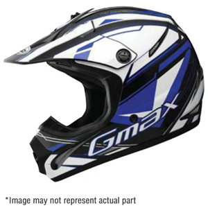 3765438 Gmax GM76X Conviction Graphic Flat White/Black/Red  MX Helmet-XXL