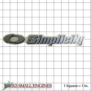 1722551SM Silver Simplicity Decal