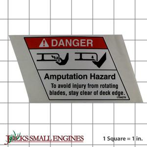 1704276SM Danger Decal