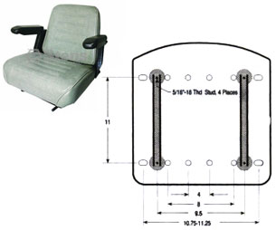 420004 Commercial Mower Seat