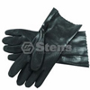 Large Black Double Dip PVC Gloves 751030
