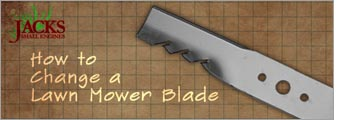 how to change a yardworks lawn mower blade
