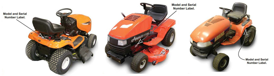 Ariens Riding Mower Model Locator