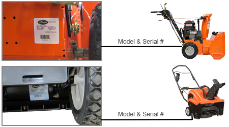 Ariens Model Number Locator - How to Locate Model Number and