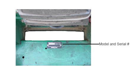 Bobcat Model Number Locator