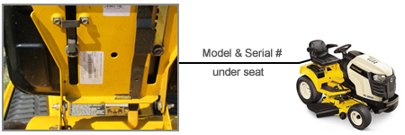 Cub Cadet Model Number and Serial Number Locator
