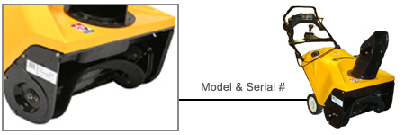 Cub Cadet Single Stage Snow Blower Model Locator