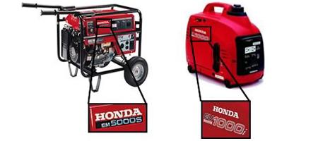 Honda Generator Model Locator