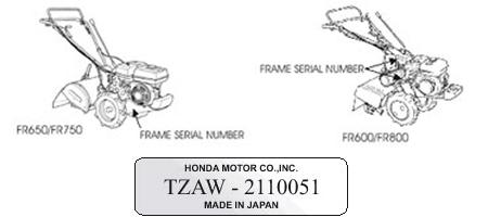 Honda Tiller Model Locator
