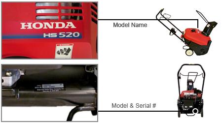 Honda Snow Blower Model Locator