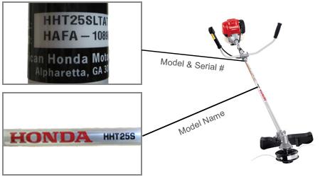 Honda Trimmer Model Locator