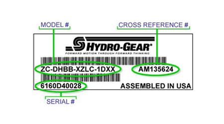 Hydro-Gear Model Locator