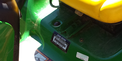 John Deere Riding Mower Model Locator